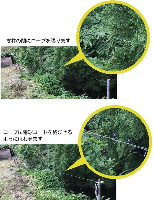 ロープを使った設置方法