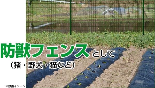 設置例:防獣フェンス